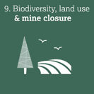 Biodiversity, land use & mine closure
