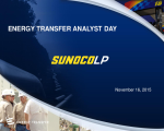 Sunoco LP at Energy Transfer Group Analyst Day