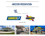 Sunoco LP Analyst Meeting
