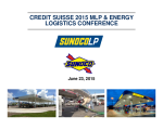 Credit Suisse MLP & Energy Logistics Conference