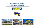 Wells Fargo Securities 2014 Energy Symposium
