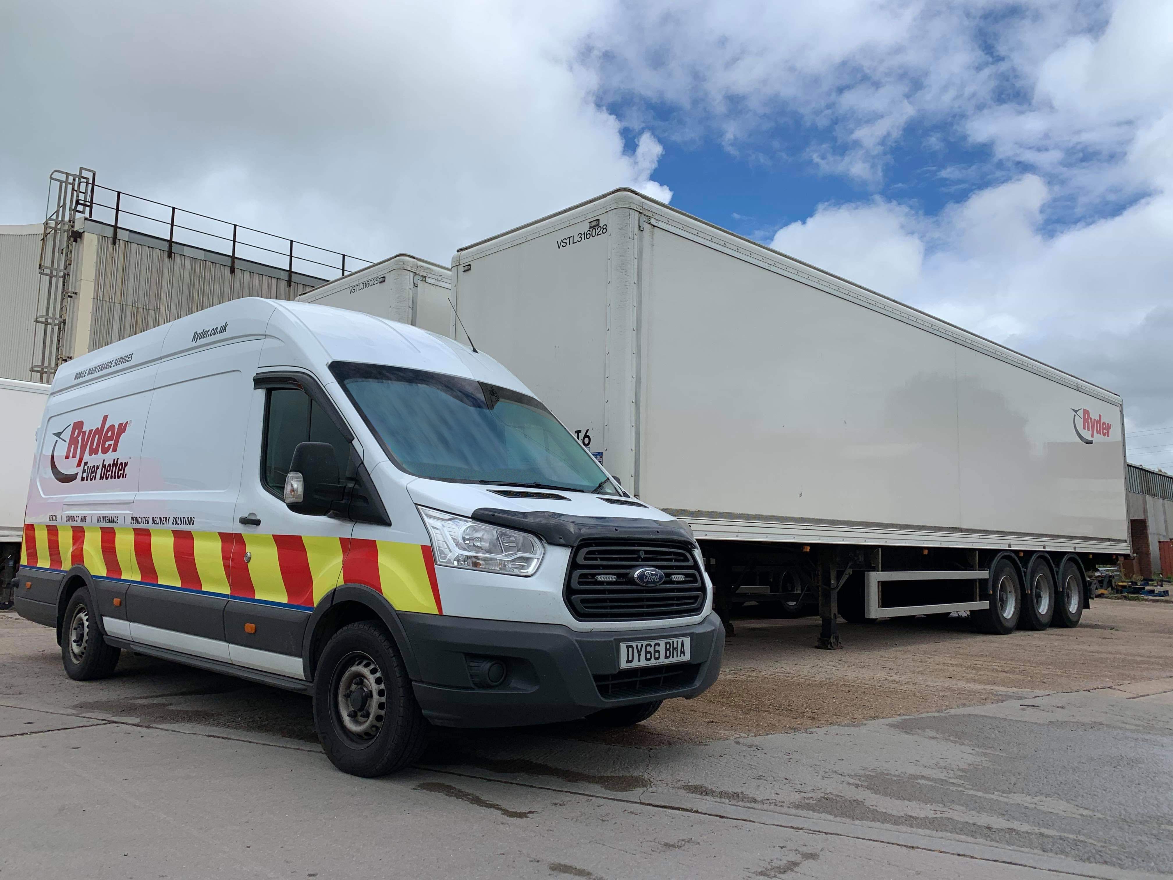 Ryder van and trailer