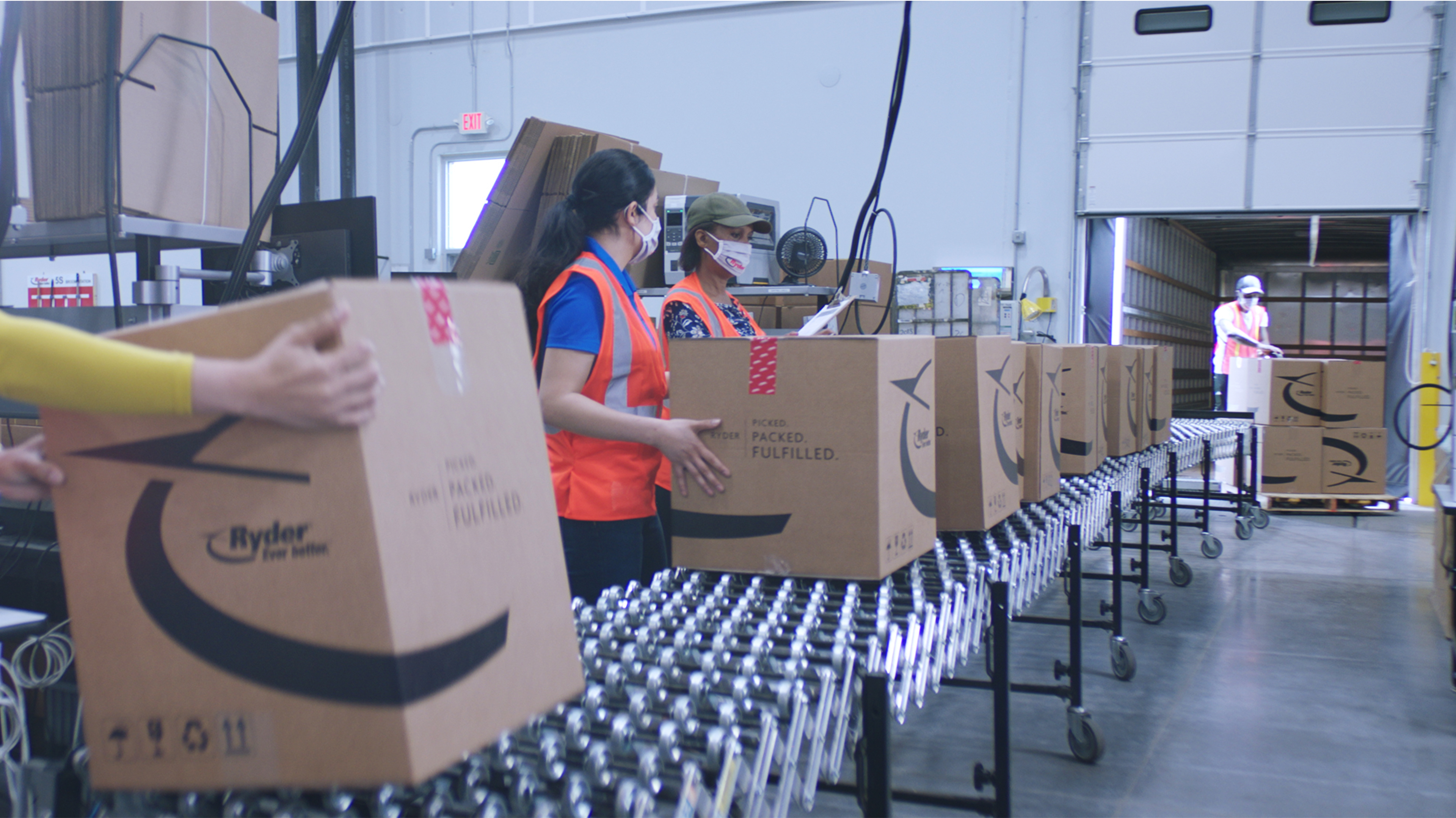 """Historically known for its more visible commercial truck rental and leasing business, Ryder's new brand campaign """"Ever better? World of Logistics"""" offers a glimpse behind the scenes into the 3PL's supply chain solutions, including its e-commerce fulfillment network. (Photo: Business Wire)"""