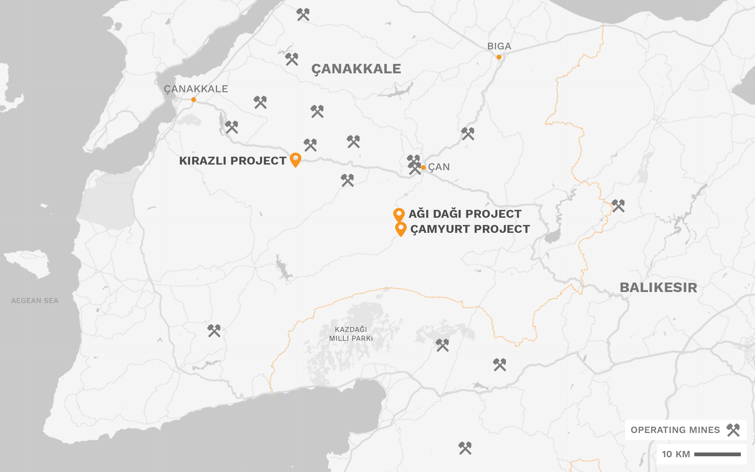 Turkish Development Projects Map