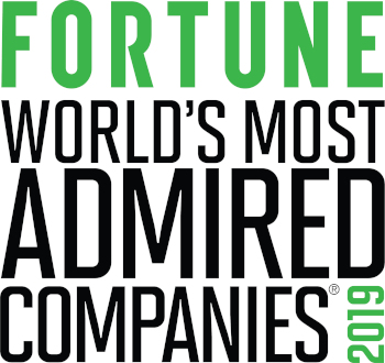 Fortune world's most admired companies 2019